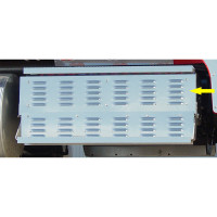 """International 9900 48.3"""" Louvered Battery Tool Box Upper Cover Panel"""