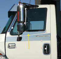 International 4000 7000 Series Under Window Trims By Roadworks