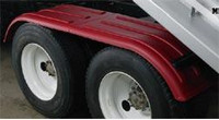Minimizer Poly Truck Fenders Tandem Axle Red The Work Horse 4000 Series