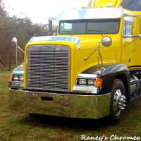 Freightliner FLD 120 112 Bumper -Stainless Steel Set Back Axle