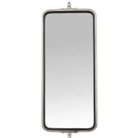 "7"" x 16"" West Coast Mirror Motorized & Heated Stainless Steel"