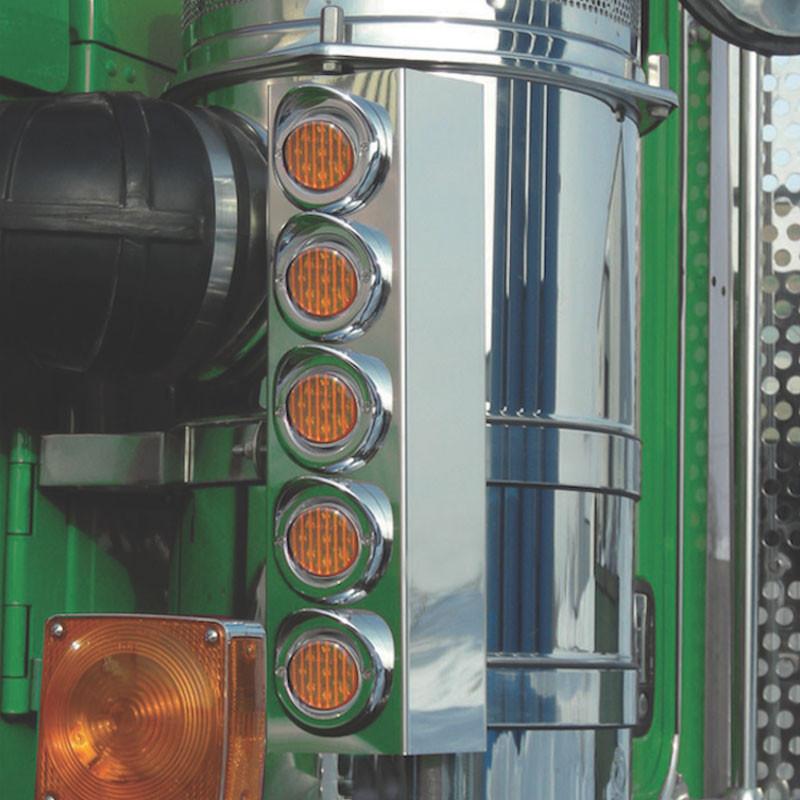 Semi Fender Lights : Kenworth t quot donaldson split fender front air cleaner
