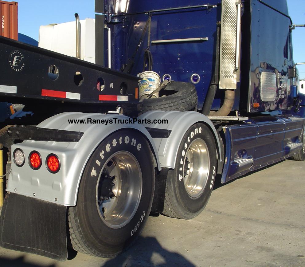 Minimizer Poly Fenders : Minimizer tt twins truck poly fenders galvanized