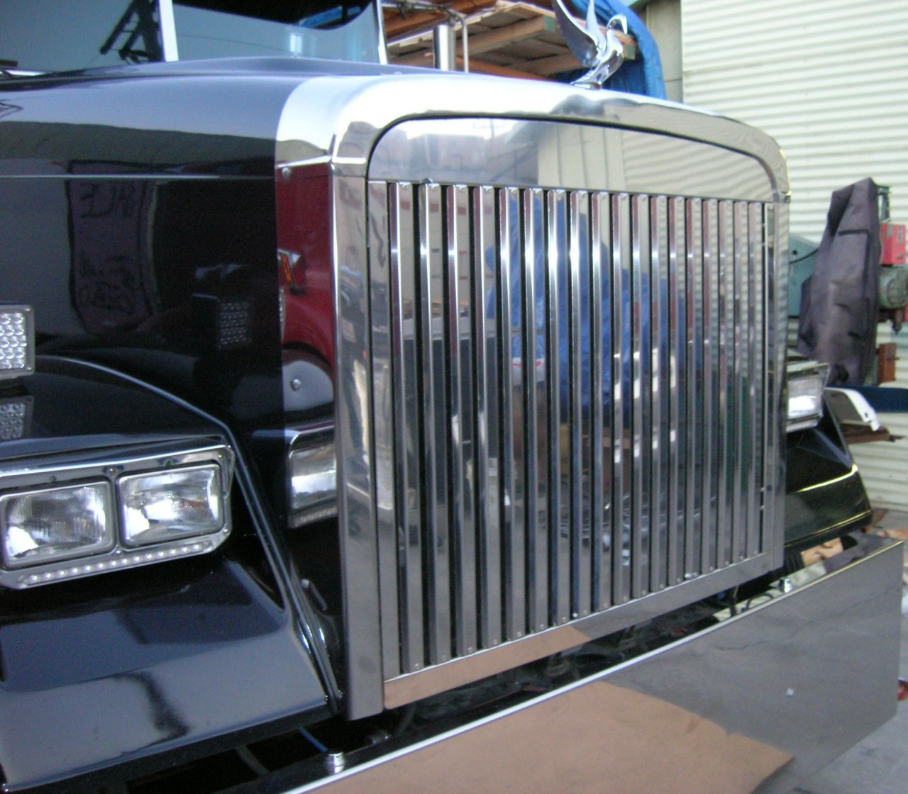 Fld 120 Hood : Freightliner fld classic grill stainless steel