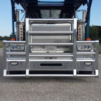 Western Star 4900 Punched Grill Insert With Snake Skin Holes