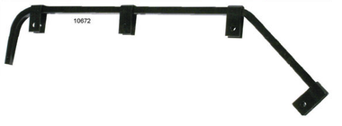 black angled mud flap hanger - 4 styles