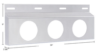 "Stainless Top Mud Flap Light Brackets - 4"" Light Cutout"