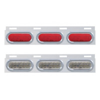 Stainless Top Mud Flap Light Brackets With 3 Oval LED Lights