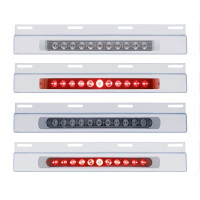 "Stainless Top Mud Flap Light Bracket With 11 LED 17"" Light Bar"