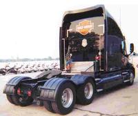 Minimizer Poly Truck Fenders Tandem Axle Black Millennium 9900 Series