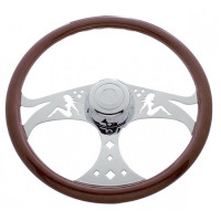 "18"" Chrome Lady Steering Wheel"