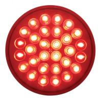 "Red 4"" Round STT Light Economy 30 LED"