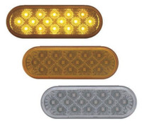16 LED Oval STT And PTC Light Amber And Clear Amber