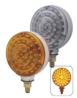 48 Amber/40 Red  LED Double Face Turn Signal Light - Transparent Design