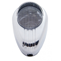 Chrome Road King 56 CB Microphone Plain Cover With Visor