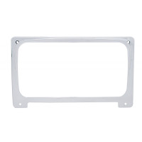 Freightliner Chrome Center Gauge Cluster Cover w/ Visor