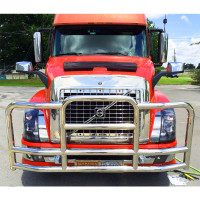 Volvo New Style VNL & VT 2004 and Newer ProTec Grille Guard - Red Truck