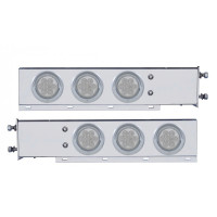 Mud Flap Hangers With LED Lights & Clear Lens