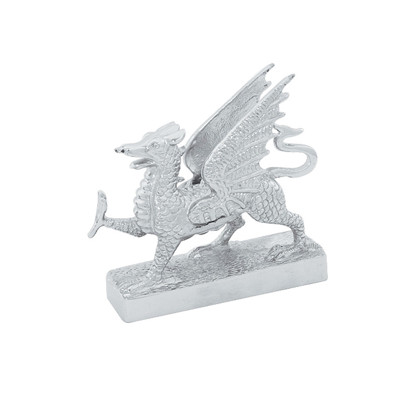 Chrome Flying Dragon Hood Ornament