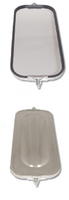 West Coast Bubble Back Mirror 7 x 16 Stainless Steel