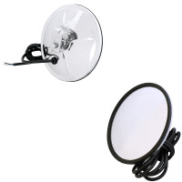 "Convex Heated Mirror 7"" Stainless Steel"
