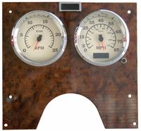 International Chrome Speed/Tachometer Gauge Cover w/ Visor