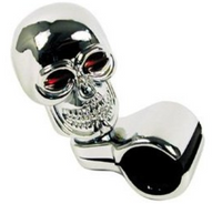 Universal Chrome Skull Steering Wheel Spinner