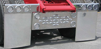 "24"" x 30"" Chrome Diamond Plate Rubber Mud Flap"