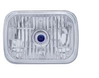 "8"" x 6"" Rectangular Headlights with Crystal Blue Dot 200mm"