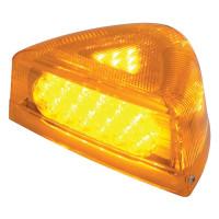Peterbilt Turn Signal Light 37 LED Lit With Chrome Base