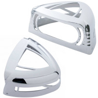 Chrome Low Profile Turn Signal Cover w/ Visor