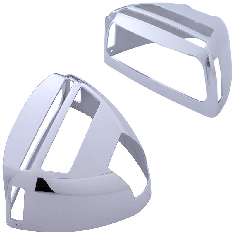 Chrome Turn Signal Cover w/ Visor