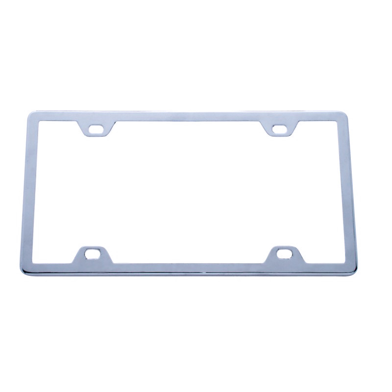Universal Chrome License Frame w/ Protector Shield