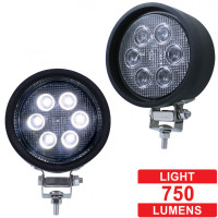 High Power LED Rubber Housing Round Work Light