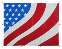 Freightliner Century American Flag Bug Screen