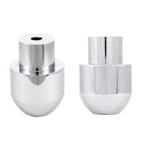 Chrome Shift Knob Adapter Side View & Front View