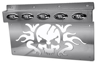 Stainless Skull Mud Flap Hanger Light Bracket (Pair)