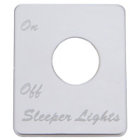 Peterbilt Stainless Steel Sleeper Light Switch Plate