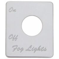 Peterbilt Stainless Steel Fog Light Switch Plate