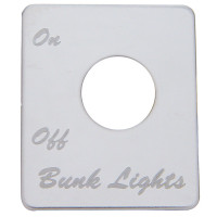 Peterbilt Stainless Steel Bunk Light Switch Plate
