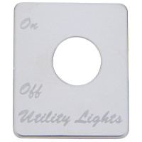Peterbilt Stainless Steel Utility Light Switch Plate
