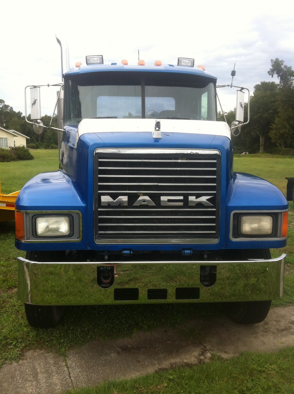 mack ch 14 u0026quot  chrome bumper set forward axle by valley