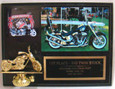 8 x 10 Deluxe Bike Night Plaque W/ 5x7 Photo - Freedom Coalition - Free Engraving