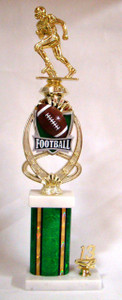 Shown With F4362 Football Figure, MF766 Meridian Football Riser, Green Column, and 2013 Gold Trim