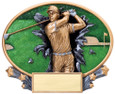 Explosion Ovals Golf Male   - Free Engraving