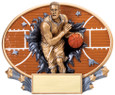 Explosion Ovals Basketball Male   - Free Engraving
