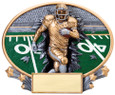Explosion Ovals Football   - Free Engraving