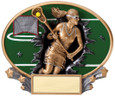 Explosion Ovals Lacrosse Female - Free Engraving