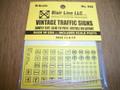 Blair Line N Scale  Vintage Traffic Signs      #044