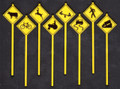 Tichy O Scale Warning Signs #2076  8 pack
